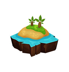tropical island for game user interface element vector image