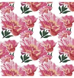 Watercolor Spring flowers peonies vector image vector image