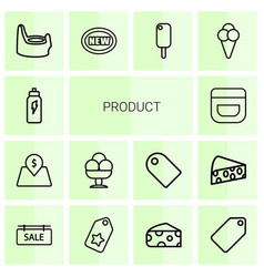 14 product icons vector