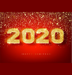 2018 happy new year gold numbers design vector image