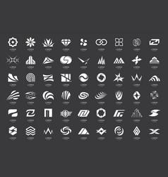 abstract logos collection vector image