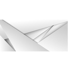 abstract modern futuristic white and gray vector image