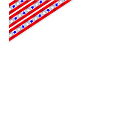 american corner usa symbol frame vector image