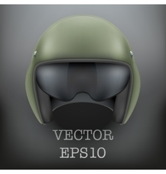 Background of Military flight helicopter helmet vector