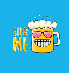 Beer me or summer poster vector