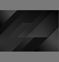 Black abstract tech geometric modern background vector