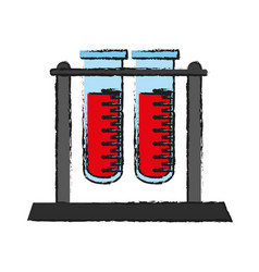 Blood sample in test tube icon image vector