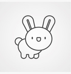 bunny icon sign symbol vector image