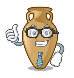 businessman amphora character cartoon style vector image