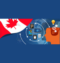 canada it information technology digital vector image