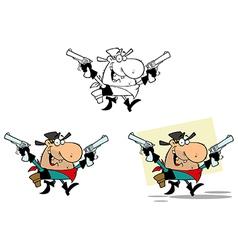 Cartoon cowboy design vector
