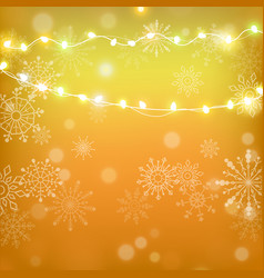 christmas and happy new year gold vector image