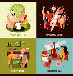 club party concept icons set vector image