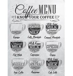 Coffee Menu cup coal vector image