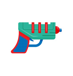 Colorful space ray gun laser blaster toy weapon vector