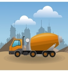 Construction and truck design vector image
