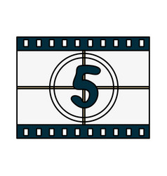 Countdown film icon image vector