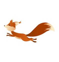 cute cartoon squirrel sweet friendly running vector image
