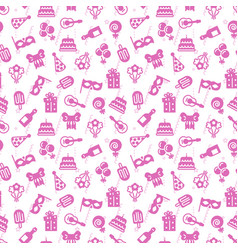 cute pink party event birthday seamless pattern vector image