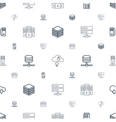 Database icons pattern seamless white background vector