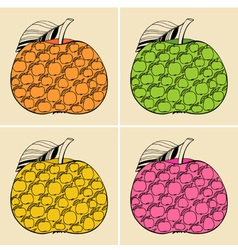 Decorative apples vector image