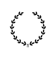 decorative black wreath - award symbol vector image