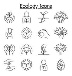 ecology conservation eco friendly save world vector image