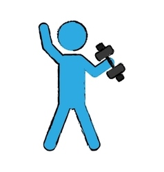 Exercise pictogram icon image vector