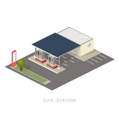 Flat 3d isometric gas petroleum vector image