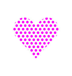 flat color love heart icon vector image vector image