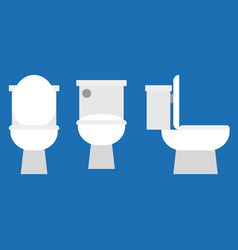 flush toilet icon vector image