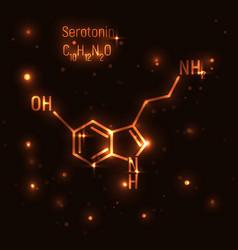 Gold serotonin molecule vector