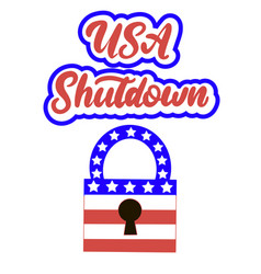 Government shutdown in the united states vector