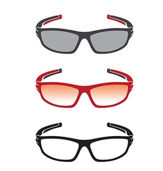 group of an sunglasses vector image