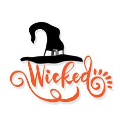happy halloween lettering vector image