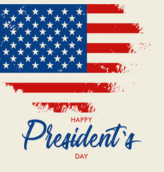 Happy presidents day hand drawn text lettering vector