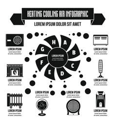 heating cool air infographic concept simple style vector image