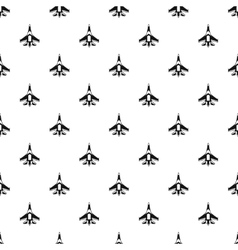 Jet fighter plane pattern simple style vector image