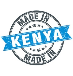 made in Kenya blue round vintage stamp vector image