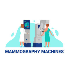 mammography machines of breast vector image
