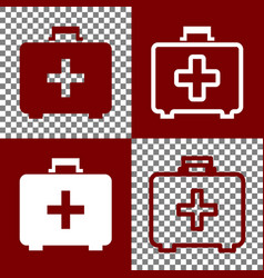 medical first aid box sign bordo and vector image