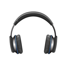 modern powerful loud headphones in shiny metallic vector image