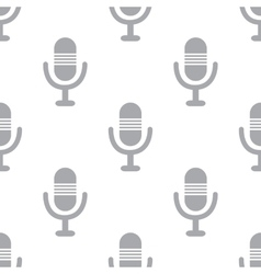 New Microphone seamless pattern vector