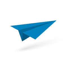 paper origami plane vector image