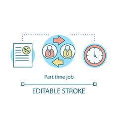 Part-time job concept icon temporary short-term vector