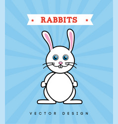 pet design over blue background vector image