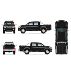 pickup truck mock-up vector image