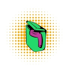 Pile of dirty clothes icon comics style vector