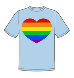 Print for t-shirt with pride lgbt heart vector