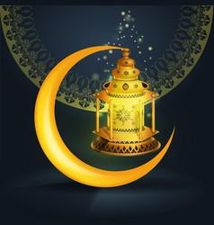ramadan kareem greetings design with vector image